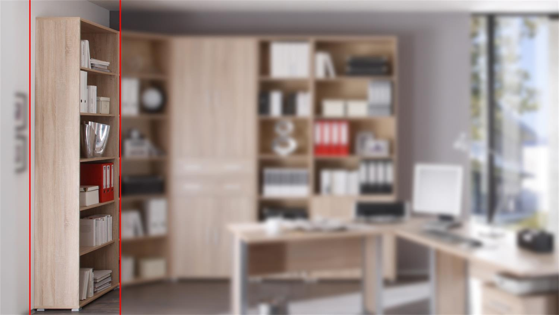 Sonoma Eiche S?gerau Regal : Regal Office LineBIZ Eiche Sonoma s?gerau offen