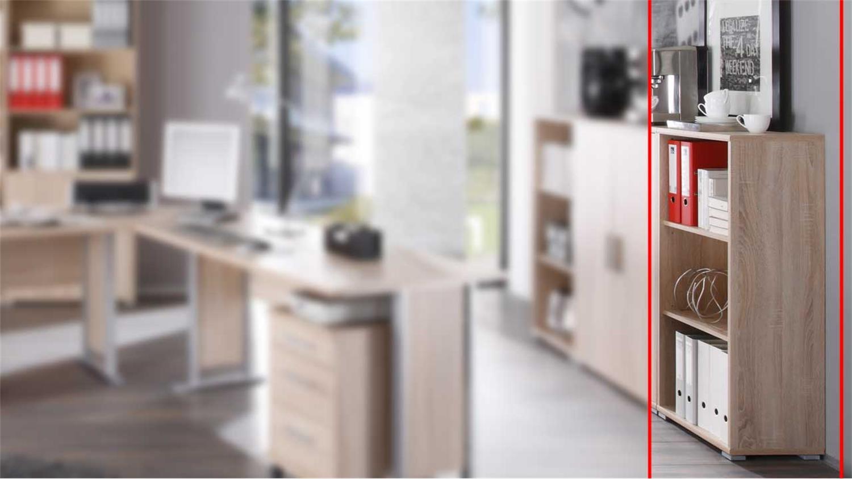 Office Line Kommode Mit 2 Turen Eiche Dekor Weiss B78 H114 T35
