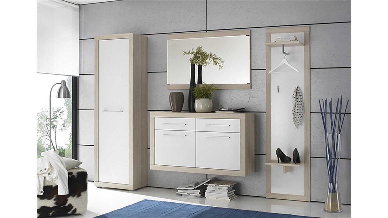 garderobenpaneel crema sonoma eiche s gerau wei. Black Bedroom Furniture Sets. Home Design Ideas