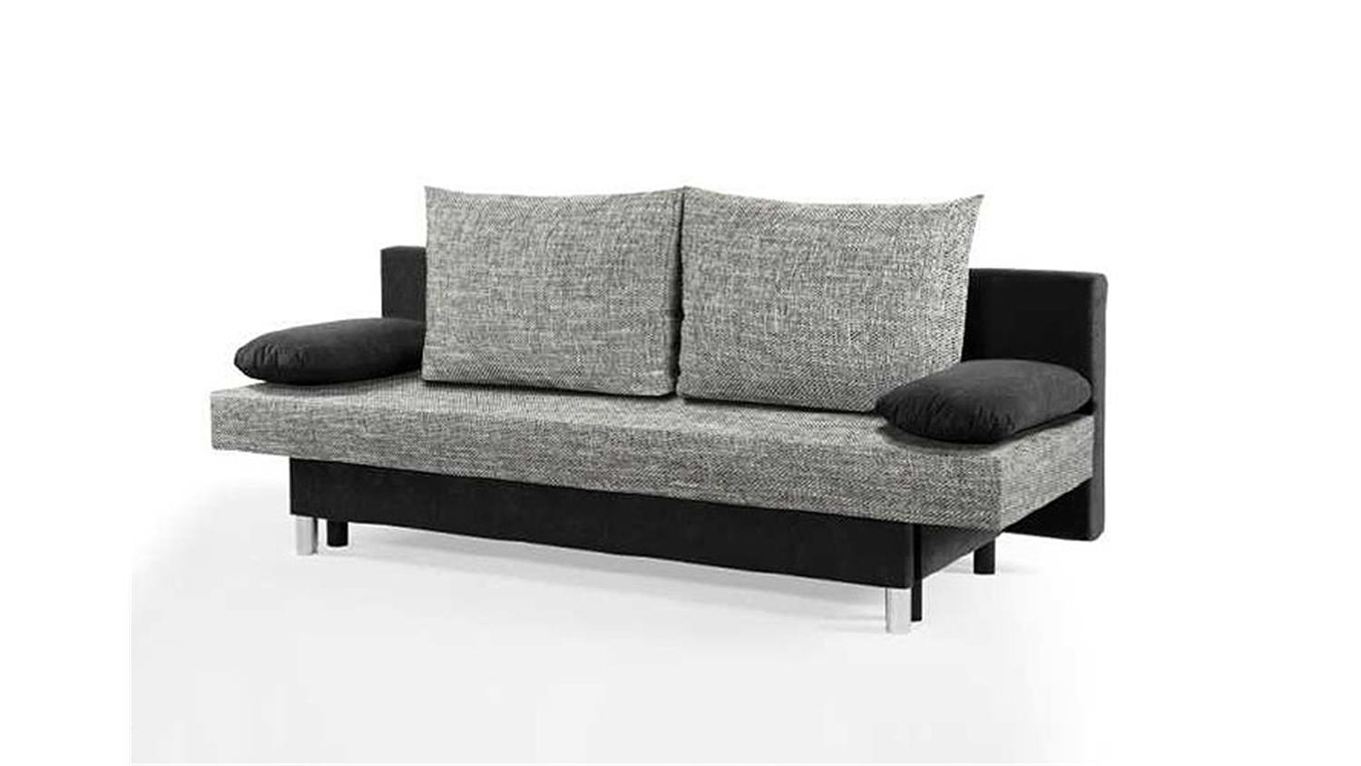 schlafsofa jelly sofa in schwarz und grau mit bettkasten. Black Bedroom Furniture Sets. Home Design Ideas