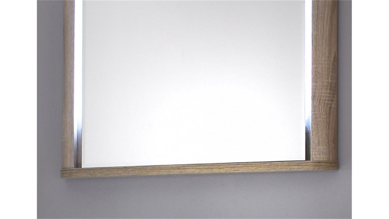 spiegel vital sonoma eiche s gerau inklusive beleuchtung. Black Bedroom Furniture Sets. Home Design Ideas