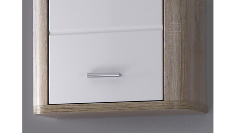 h ngeschrank vital sonoma eiche s gerau und wei. Black Bedroom Furniture Sets. Home Design Ideas
