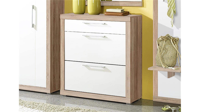 schuhschrank beco wei und sonoma eiche s gerau. Black Bedroom Furniture Sets. Home Design Ideas