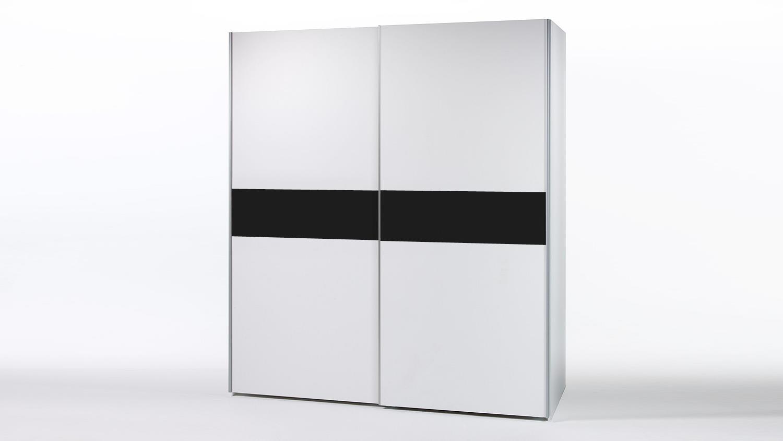 Schwebetürenschrank weiß schwarz  VICTOR weiß und schwarz 170