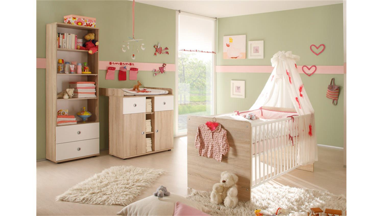 babybett wiki kinderbett in sonoma eiche s gerau und wei. Black Bedroom Furniture Sets. Home Design Ideas