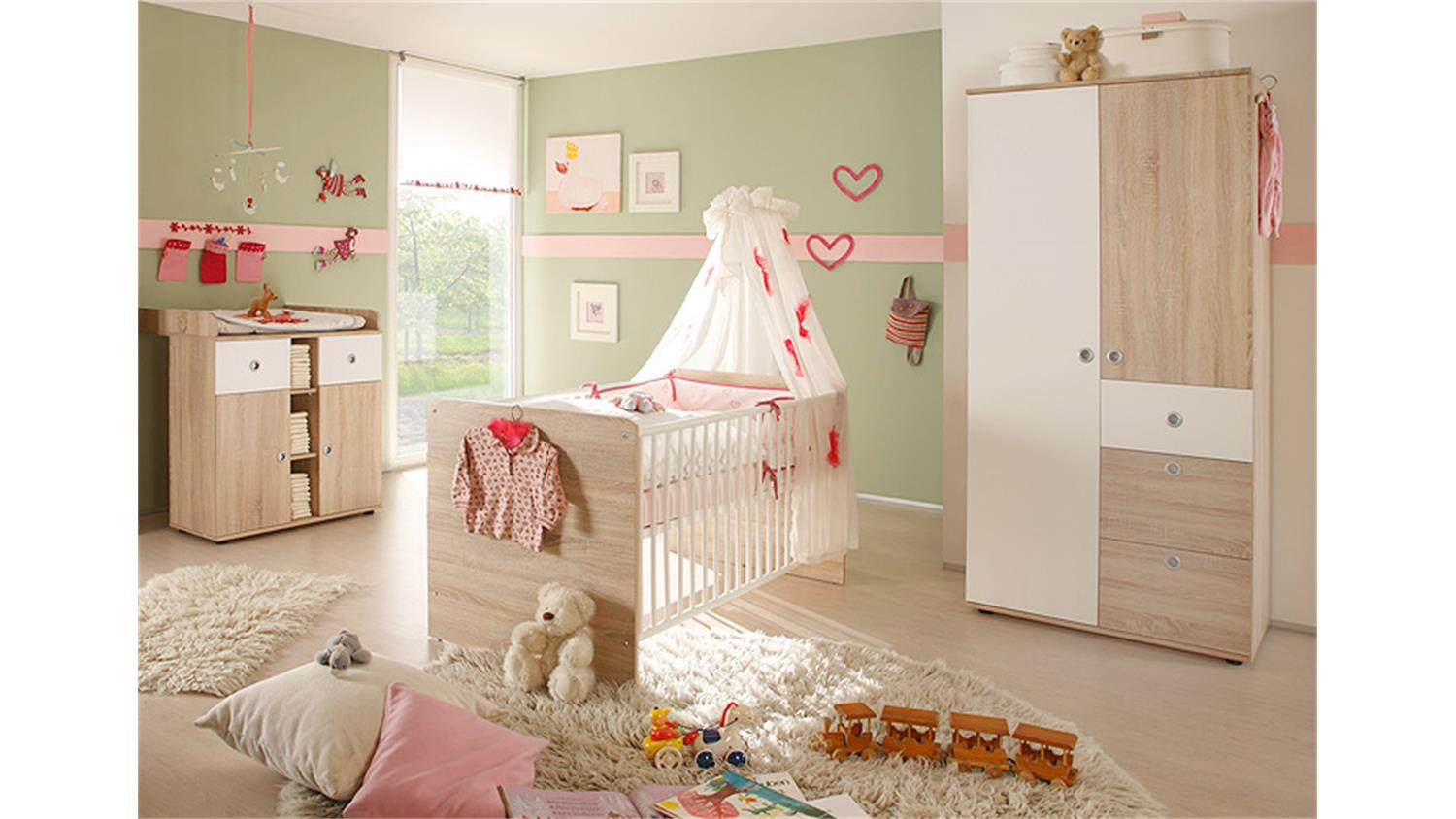 babyzimmer wiki 3 teilig sonoma eiche s gerau. Black Bedroom Furniture Sets. Home Design Ideas