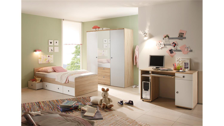 bett wiki sonoma eiche nb wei 90x200 cm. Black Bedroom Furniture Sets. Home Design Ideas