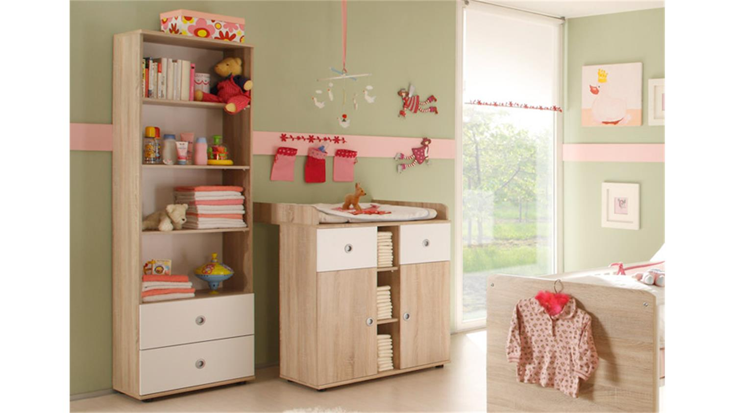 babyzimmer wiki 4 tlg sonoma eiche s gerau. Black Bedroom Furniture Sets. Home Design Ideas