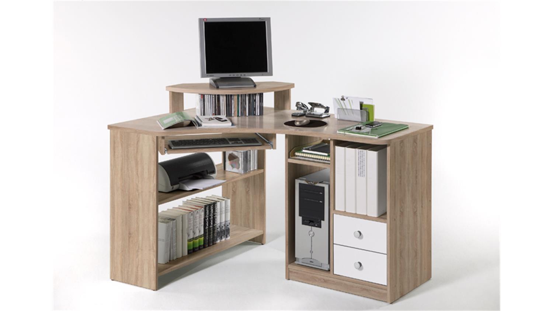 eckschreibtisch tanga computer schreibtisch in eiche sonoma. Black Bedroom Furniture Sets. Home Design Ideas