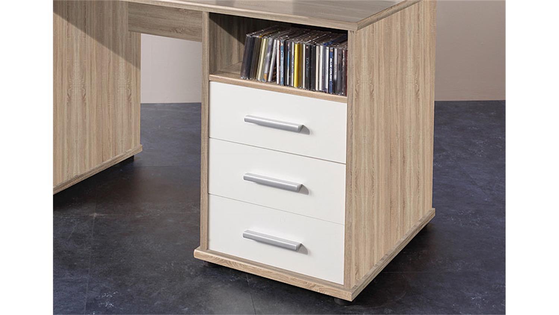 Schreibtisch venta computertisch pc tisch in eiche sonoma for Schreibtisch in eiche