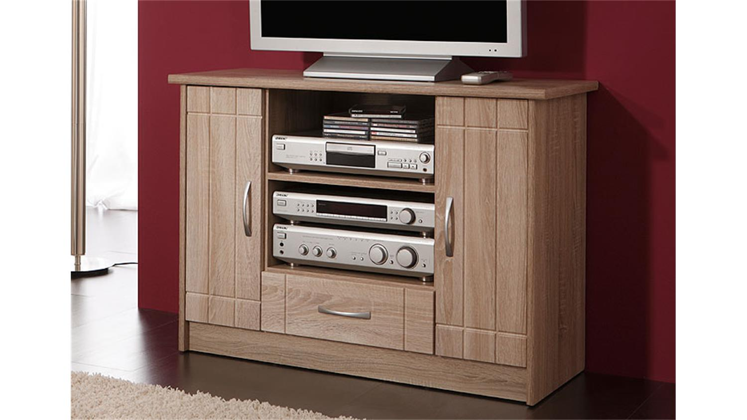 tv kommode village tv schrank in mdf sonoma eiche dekor. Black Bedroom Furniture Sets. Home Design Ideas