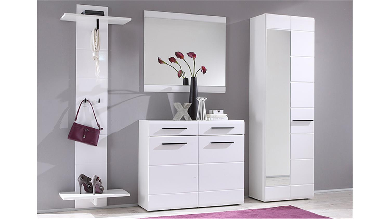 garderobenpaneel derby wandgarderobe paneel in wei dekor. Black Bedroom Furniture Sets. Home Design Ideas
