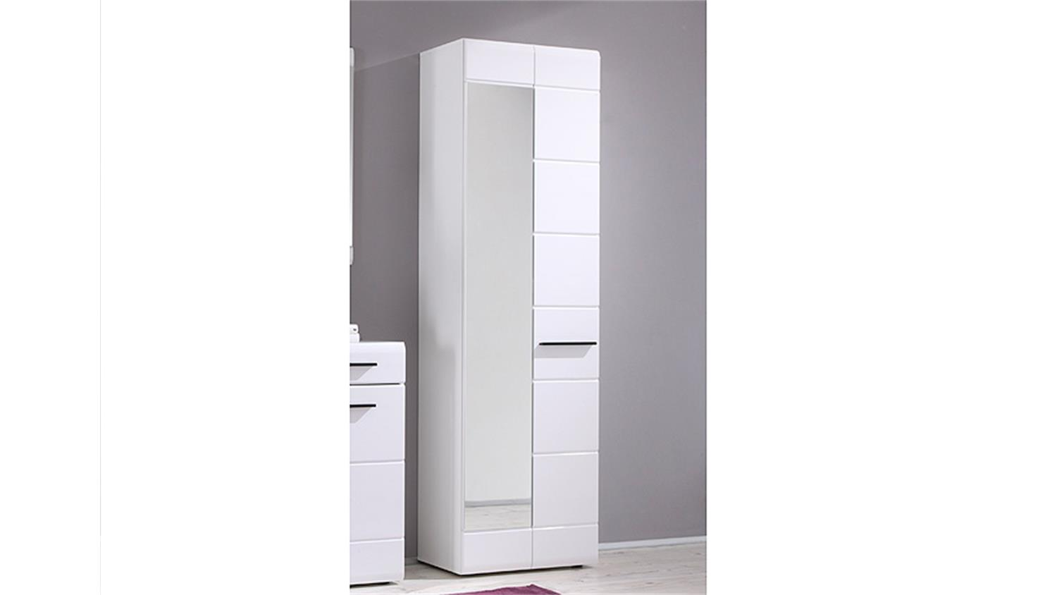 garderobenschrank derby dielenschrank in wei front hochglanz. Black Bedroom Furniture Sets. Home Design Ideas
