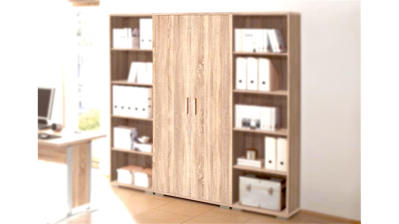 aktenschrank office line sonoma eiche 2 t ren. Black Bedroom Furniture Sets. Home Design Ideas