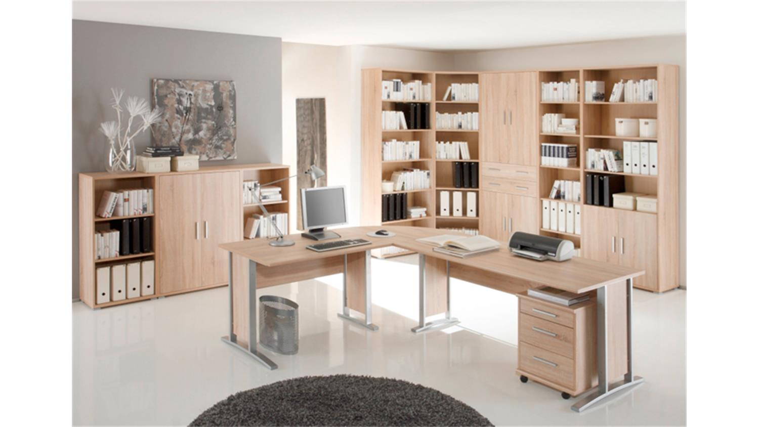 aktenschrank office line sonoma eiche 2 t ren. Black Bedroom Furniture Sets. Home Design Ideas