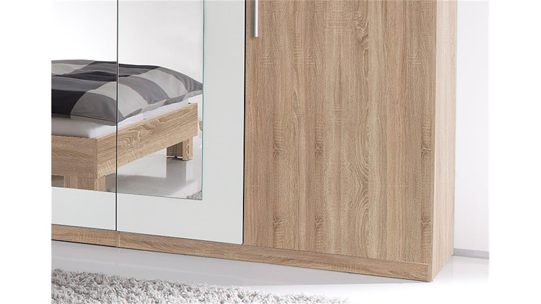 schlafzimmer set martina sonoma eiche s gerau und wei. Black Bedroom Furniture Sets. Home Design Ideas