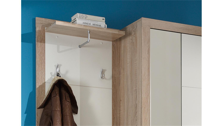 garderoben set can can 2 in sonoma eiche und glanz wei. Black Bedroom Furniture Sets. Home Design Ideas
