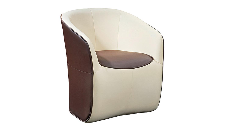 Einzelsessel braun  Cocktailsessel Weiß Leder: Sessel schwarz leder möbelideen. Amazon ...