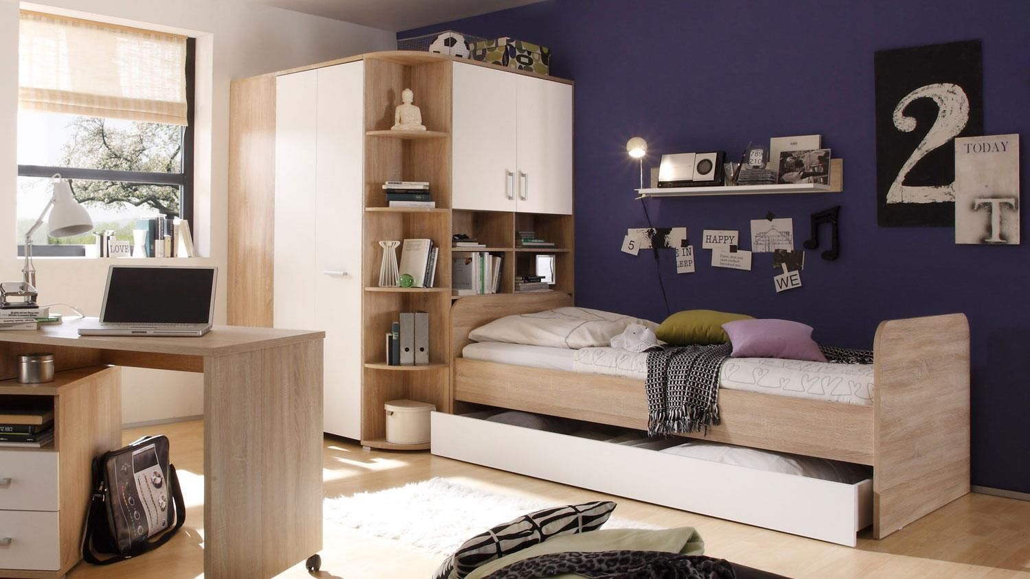 begehbarer eckschrank corner sonoma eiche wei. Black Bedroom Furniture Sets. Home Design Ideas