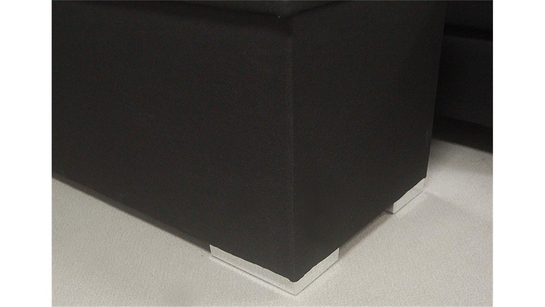 Truhe CHEST Truhe Schlafzimmer Stoff in schwarz
