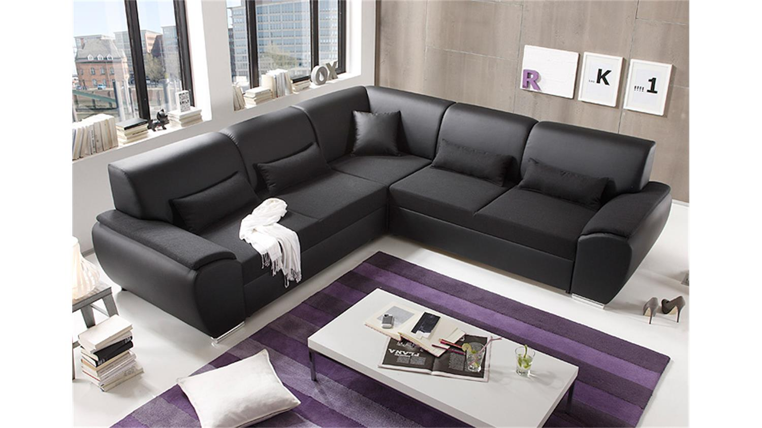 ecksofa antara schwarz inkl kissen 272x272. Black Bedroom Furniture Sets. Home Design Ideas