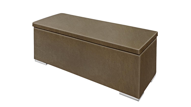 sitzbank truhe chest stoff tobago dunkellbraun vintage. Black Bedroom Furniture Sets. Home Design Ideas