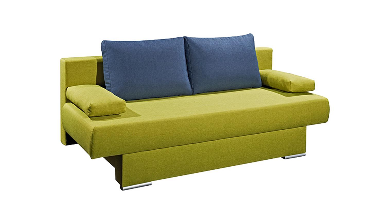 schlafsofa mia gr n und blau inkl 4 kissen 135x193. Black Bedroom Furniture Sets. Home Design Ideas