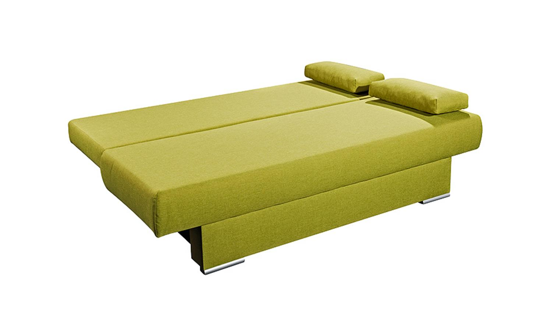 Schlafsofa grün  MIA grün und blau inkl. 4 Kissen 135x193
