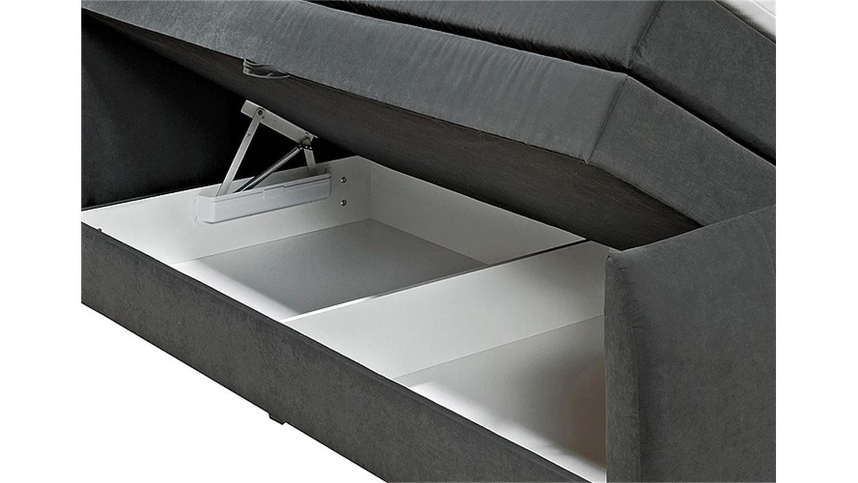 boxspringbett maryland schwarz mit topper 180x200 cm. Black Bedroom Furniture Sets. Home Design Ideas