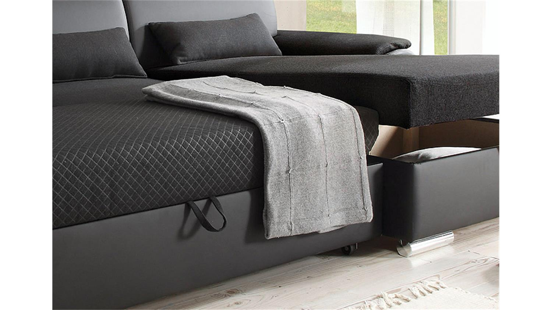 ecksofa antara schwarz schlaffunktion 173 x 277 cm rechts. Black Bedroom Furniture Sets. Home Design Ideas