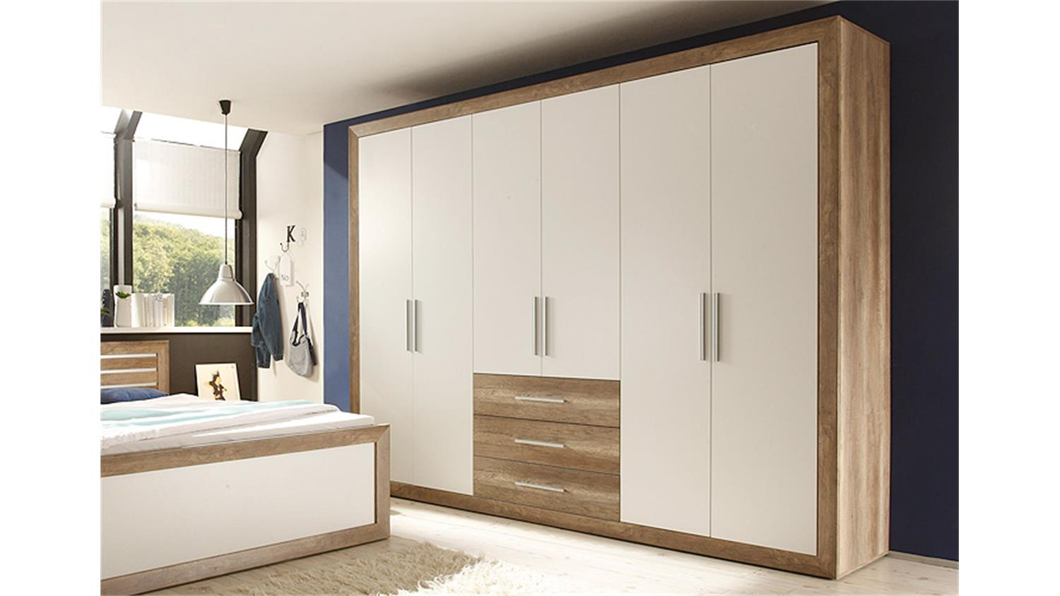 kleiderschrank fernando canyon oak wei 289. Black Bedroom Furniture Sets. Home Design Ideas