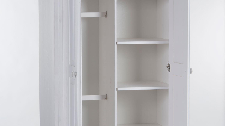 kleiderschrank babyzimmer laura kiefer massiv wei 2 t rig. Black Bedroom Furniture Sets. Home Design Ideas