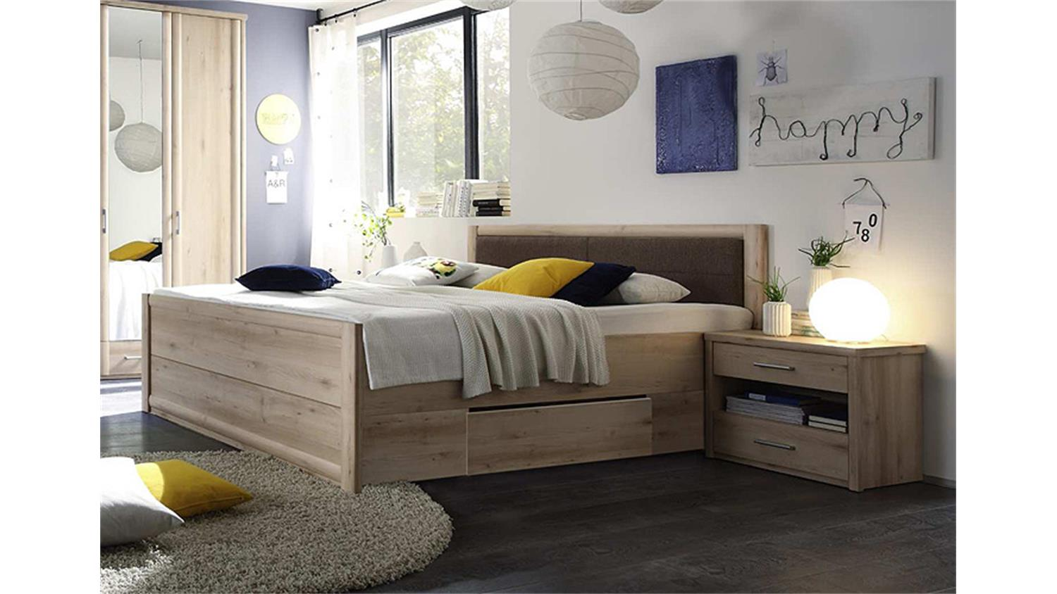 bettanlage 180 x200 cm classic bett buche schubk sten 2 nachtkommoden. Black Bedroom Furniture Sets. Home Design Ideas
