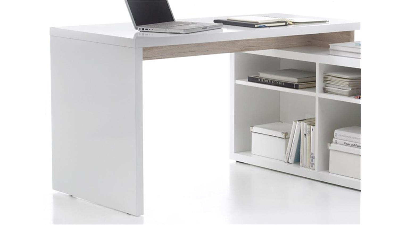 winkelschreibtisch tokyo b ro schreibtsich mit sideboard. Black Bedroom Furniture Sets. Home Design Ideas