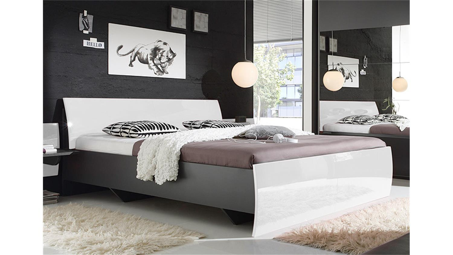 schlafzimmer in grau. Black Bedroom Furniture Sets. Home Design Ideas