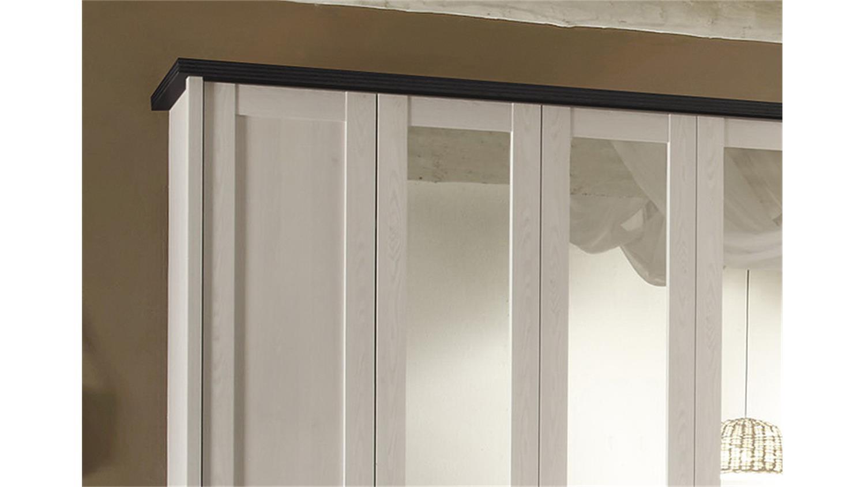 Schlafzimmer Set LUCA Pinie Weiß Und Touchwood 4 Teilig