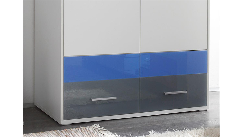 kleiderschrank wei und glas blau grau colori dreht renschrank 100 cm. Black Bedroom Furniture Sets. Home Design Ideas