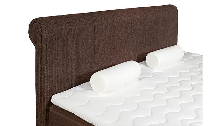boxspringbett 1 california bett in braun mit topper 180x200. Black Bedroom Furniture Sets. Home Design Ideas