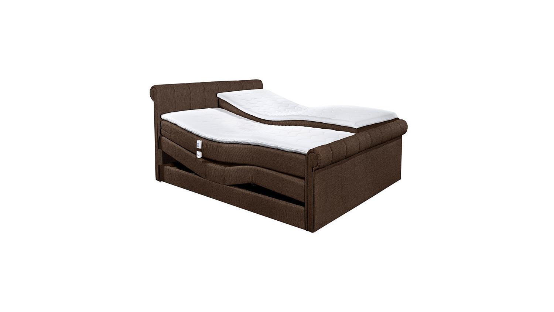 boxspringbett 4 california bett in braun mit motor 180x200. Black Bedroom Furniture Sets. Home Design Ideas