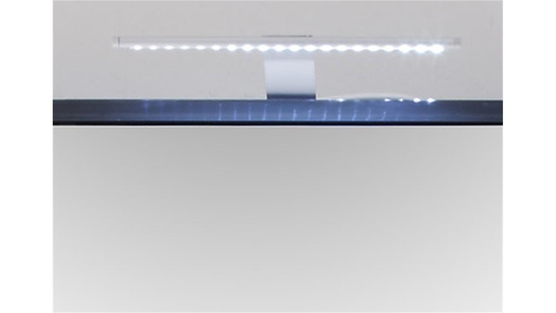 spiegelschrank grey f r das bad mit led aufsatzbeleuchtung. Black Bedroom Furniture Sets. Home Design Ideas