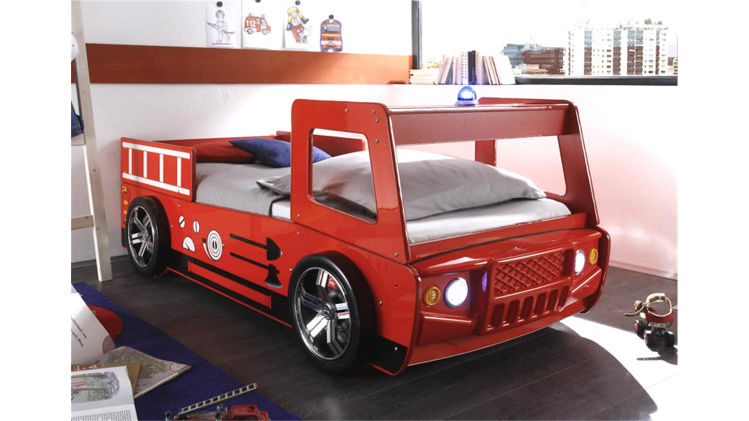 kinderbett feuerwehr die feinste sammlung von home design zeichnungen. Black Bedroom Furniture Sets. Home Design Ideas