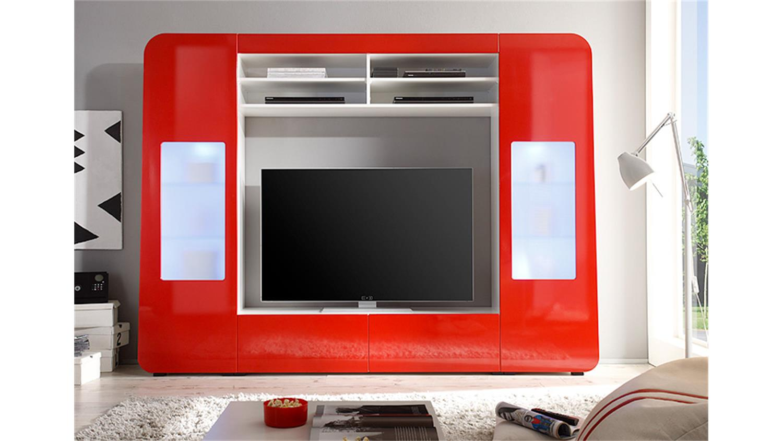 Tv wand rot bestseller shop f r m bel und einrichtungen for Wohnwand rot