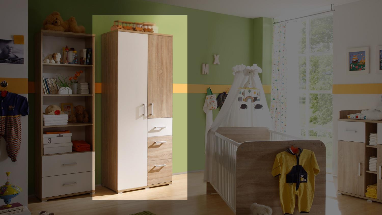 kleiderschrank corner schrank sonoma eiche wei 2 trg. Black Bedroom Furniture Sets. Home Design Ideas