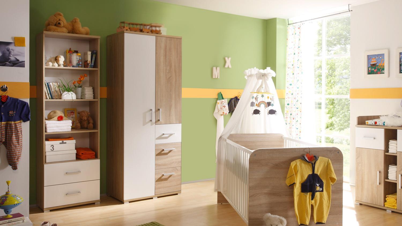 kleiderschrank corner schrank in sonoma eiche und wei 90. Black Bedroom Furniture Sets. Home Design Ideas