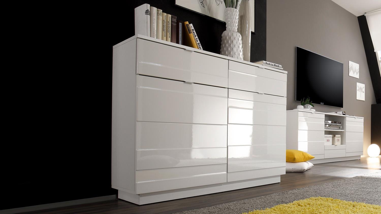 kommode sideboard wei hochglanz design relief 2. Black Bedroom Furniture Sets. Home Design Ideas