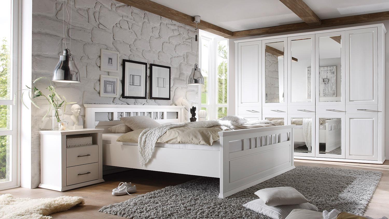 schlafzimmer emma schrank bett nako kiefer teilmassiv wei. Black Bedroom Furniture Sets. Home Design Ideas