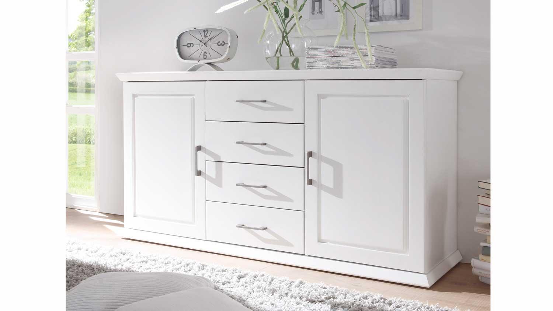 kommode emma sideboard kiefer teilmassiv wei. Black Bedroom Furniture Sets. Home Design Ideas