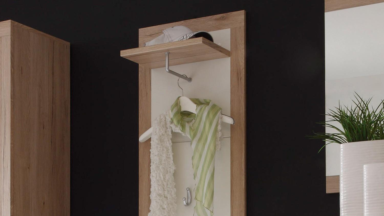 Garderobe can can 5 spiegel in sonoma eiche wei 5 teilig for 3 teilige garderobe