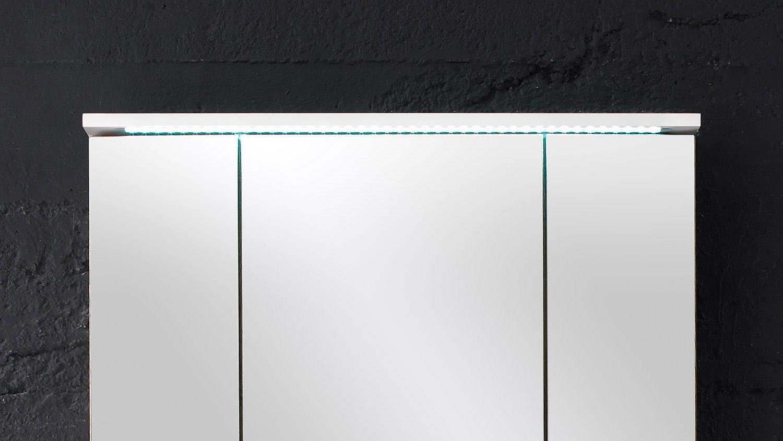 spiegelschrank splashi badm bel in wei inkl led. Black Bedroom Furniture Sets. Home Design Ideas