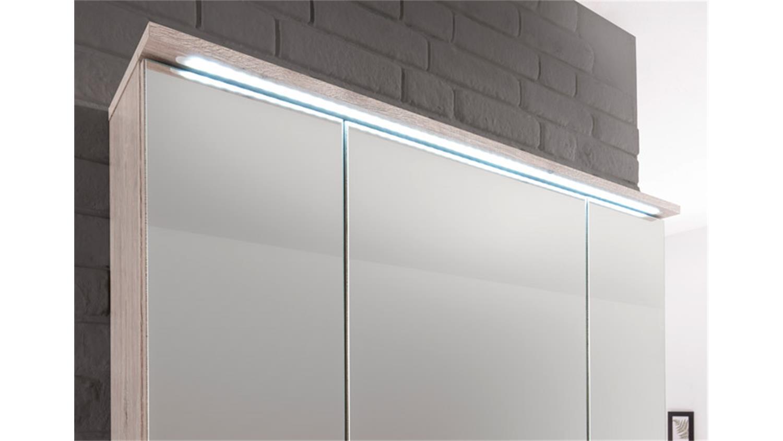 spiegelschrank splashi in sonoma eiche inkl led. Black Bedroom Furniture Sets. Home Design Ideas